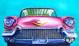 Cadillac Watercolor 17.75x30 in