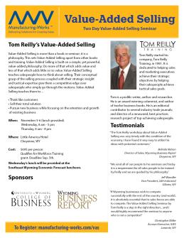 Tom Reilly Flyer Side 1